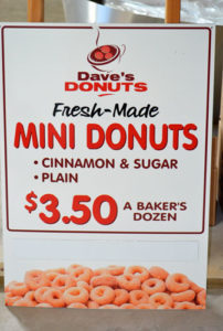 Dave's donut sign