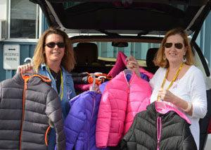 Donated coats
