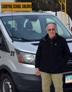 School bus driver Ron Bernier