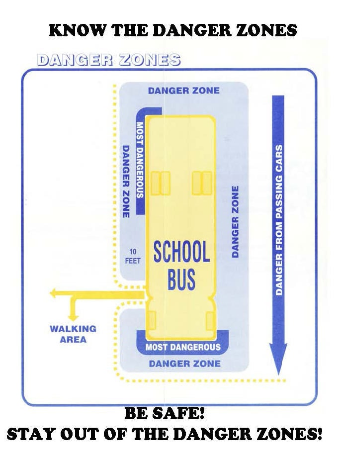 School bus safety zones