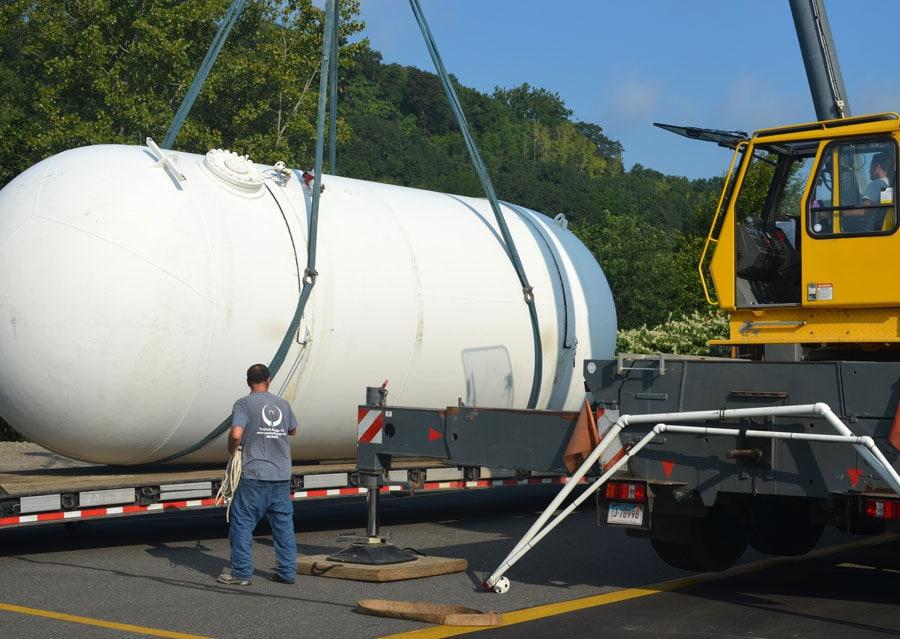 New propane tank